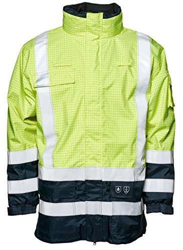 Elka Warnschutz- Regenjacke mit Flammschutz 5XL Gelb/Marineblau