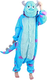 Unisex Adult Pajamas Plush One Piece Adult Anime Cosplay Costume Sully(Flannel) M