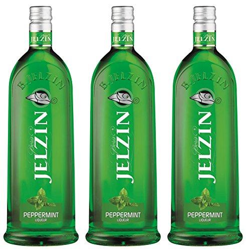 Jelzin Vodka Pfefferminz Likör (3 x 0.7 l)
