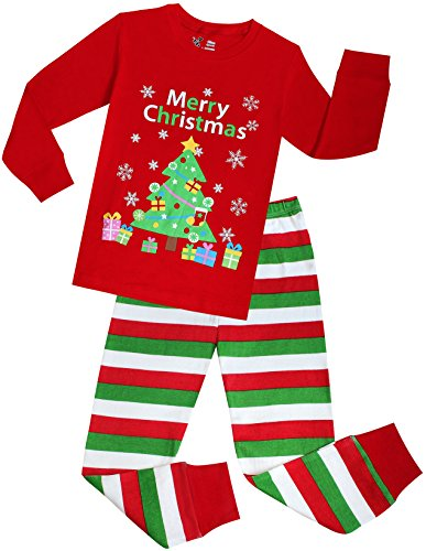 Boys And Girls Christmas Pajamas Children PJs Gift Set Kids Cotton Sleepwear Size 8 Years