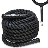 Poly Dacron Battle Rope - Workout Rope - Exercise Ropes - Training Ropes - Battle Ropes - Undulation Ropes - Great For Your Rope Workout (2' x 30 feet)