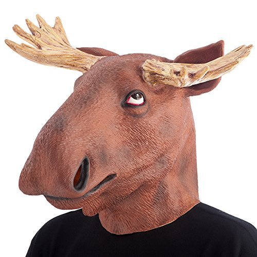 Carnival Toys 1401 - Maske Elch, Latex, braun