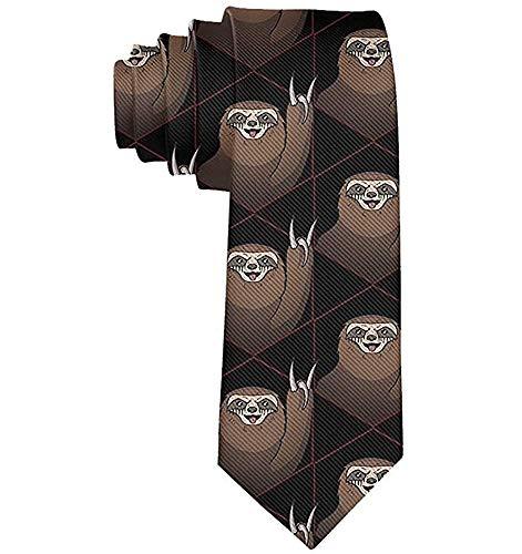 Not applicable Perezosos metálicos para hombres Corbata divertida Corbata Corbata de seda Corbatas Corbatas elegantes