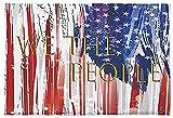Fußmatte, USA-Flagge, Patriotische Sterne, weich & wasserabsorbierend, Badematte, blau, weiß, rot, gestreift, rutschfest, für Schlafzimmer, Wohnzimmer, Badezimmer (40,6 x 61 cm)