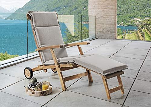 Destiny Premium Polster Deckchair Auflage Sand Struktur Deckchairauflage Sitzpolster - Ohne Deckchair