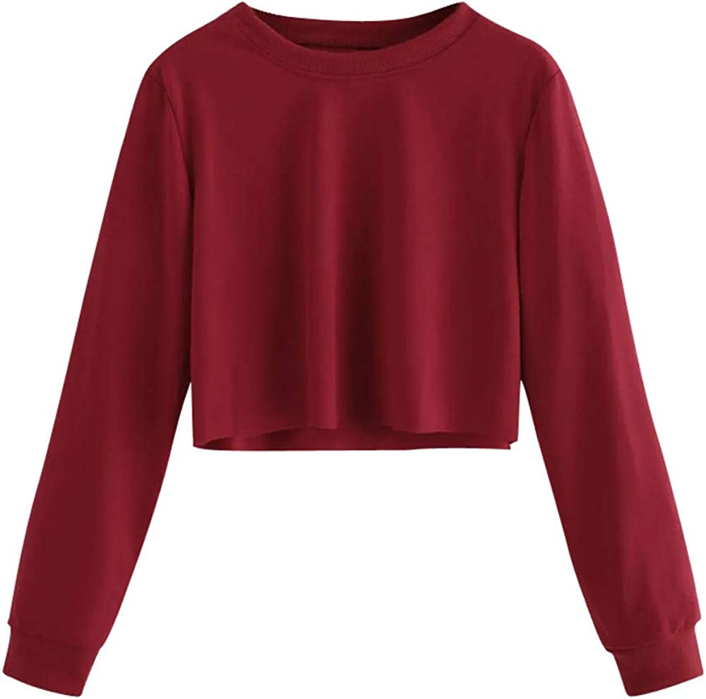 Quealent Sweatshirt for Women, Women's Casual Color Block Round Neck Long Sleeve Sweatshirt Blouse T-Shirt Hoodies