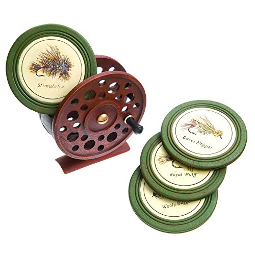 DEMDACO Carvers Fly Reel Coaster Set