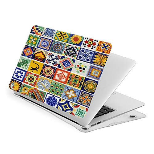 Laptop Case for MacBook Mexican Talavera Tile Laptop Computer Hard Shell Cases Cover (New Air13 / Air13 / Pro13 / Pro15)