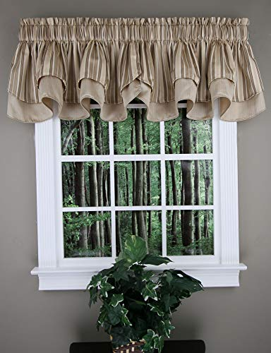 Windsor Scalloped Layered Valance - Linen Color