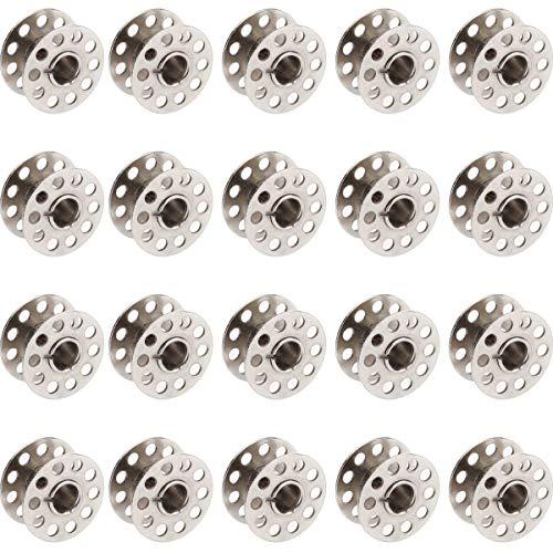 Rocchetti per Macchina da Cucire Domestiche 20 PZ Metallo Bobine per Macchine da Cucire Rocchetti di Filo Argento Diametro 20mm Bobine per Il Fratello Singer Babylock Janome Kenmore di SamGreatWorld
