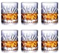 Whiskey Glasses Set of 6, Scotch Bourbon 11oz Crystal Whiskey Glass Cups, 100% Lead Free Old Fashioned Glasses Drinkware Gift