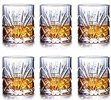 Juego de vasos de whisky de 2/4/6, vasos antiguos de cristal de whisky, 100 % sin plomo 313-6