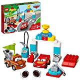 LEGO DUPLO Disney and Pixar Cars Lightning McQueen's Race Day 10924 Toddler Toy with Lightning McQueen and Mater; Great Gift for Kids Who Love Race Car Toys and Tow Trucks, New 2020 (42 Pieces)