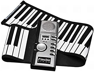 Foldable 61 Keys Flexible Soft Electric Digital Roll up Keyboard Piano,A,1 Dear-You
