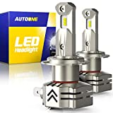 Best H7 Bulbs - AUTOONE H7 LED Headlight Bulbs, 6000K White 12000LM Review