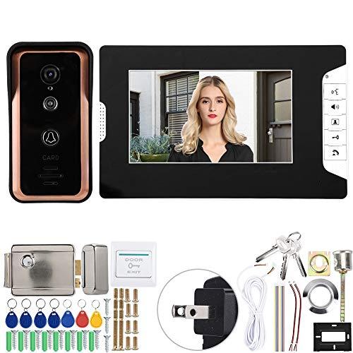 Dioche 【2021 Promoción de año Nuevo】 Videoportero TFT, Sistema de comunicación por Video de Alta definición de 7(US Standard (100-240v))