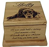 Pet Memorial urn Dog lovers gift Pet Cremation Box For Ashes Memorial Gifts Custom urn Personalized Dog urn Cat Memorial Pet Portrait