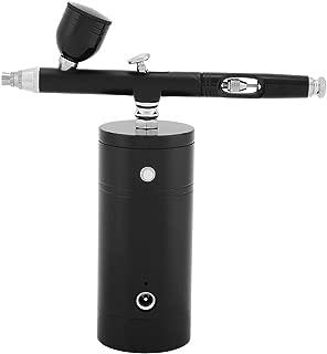 Mini Air Compressor Spray Gun, Single Action 0.3mm Airbrush Gun, 7CC Capacity Set for Professional Art Model Painting(Black)
