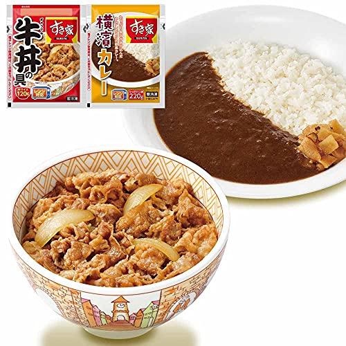 すき家 牛丼の具120g 横浜カレー220g (牛丼5×カレー5)