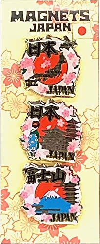 マグネット3個入り 桜柄 日本地図/金閣寺/富士山 日本土産 雑貨 ギフト Magnet