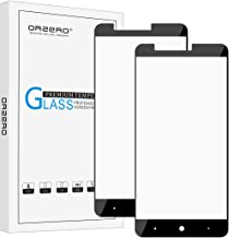 [2 Pack] Orzero for ZTE ZMAX Pro / Z981 [ Full Coverage ] Tempered Glass Screen Protector, 2.5D Arc Edges 9 Hardness High Definition Anti-Scratch Bubble-Free [Lifetime Replacement Warranty]