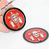 SAISDON- Bope Brazil Pirate Chrome Red Black Metal Hq 3D Badge Car Trunk Side Door Fender Auto Emblem Logo Adhesive [1 Piece][5252CHRDBK]