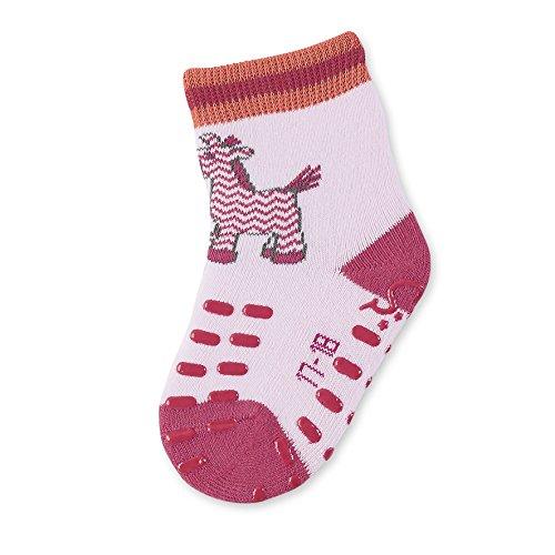 Sterntaler 8011702 Baby Krabbelsöckchen Krabbelsocken Zebra (21-22, rosa)