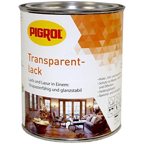 Pigrol Transparentlack für Holz Innen und Außen 1121 eiche 0,375L