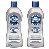 Bar Keepers Friend Multipurpose Ceramic and Glass Cooktop Cleaner | 13-Ounces | 2-Pack, 13 Ounce (Pack of 2), Natural, 26 Ounce
