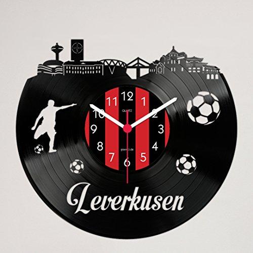 Gravinci Schallplatten-Wanduhr Leverkusen Fan