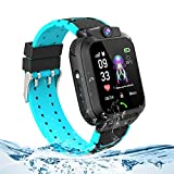 themoemoe Kids Smartwatch, Kids Smartwatch with GPS Tracker Waterproof Phone Smart Watch 1.44 SOS Alarm Clock Camera (Black)
