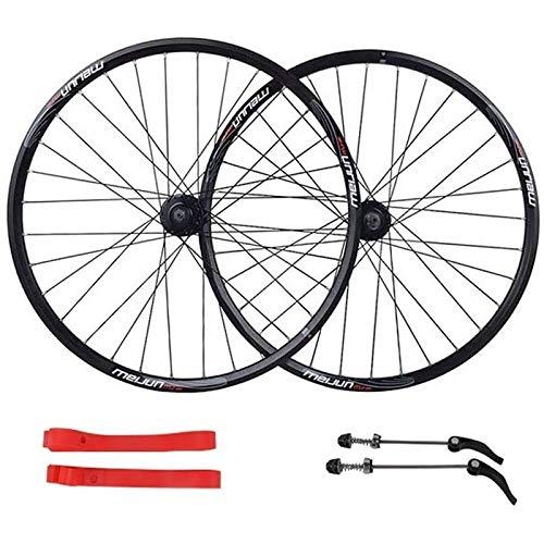 Ckssyao Bike Wheelset 26 Pulgadas de Ruedas de Bicicleta de montaña, Conjunto de Ruedas de Freno Relación rápida Palin Palin Rodamiento 7/8/9/10 Velocidad 32 Agujeros