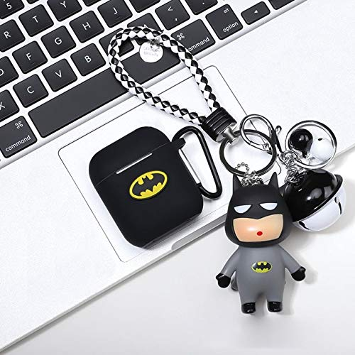 Cartoon Siliconen Bluetooth Oortelefoon Case voor Apple AirPods Ultradunne Leuke Bescherming Cover voor AirPods Charger Box Funda 0 Batman Pop