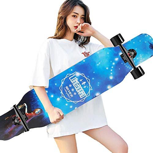 Skateboard de Longboard 42 ', para Adolescentes para Adultos para Adultos, niñas, Chicos, monopatín Completo 8-Capa Arce Crucero cóncavo-A_42 Pulgadas