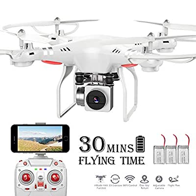 RC Drone,WiFi 720P HD Camera Live Video RC Quadcopter with Altitude Hold, Gravity Sensor Function, RTF and Easy to Fly for Beginner (Drone)