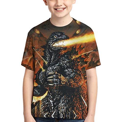 Godzilla - Camiseta de manga corta con cuello redondo y ligero, cuello redondo, camisetas personalizadas