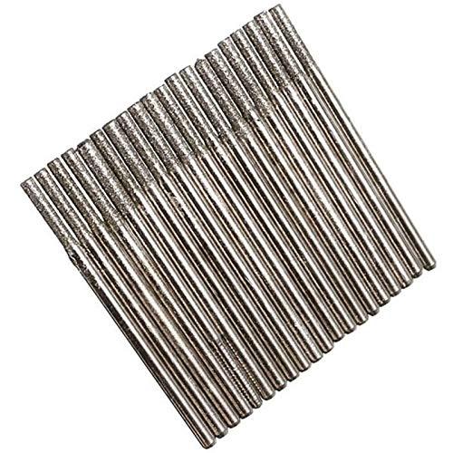 Auoeer 20pcs durables Diamante de la caña de 2,35 mm Taladro Coated bits de Cristal de la Teja de cerámica Mármol Rotary Tool Set
