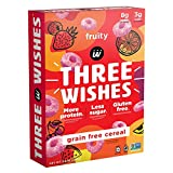THREE WISHES Grain Free, Plant Based Fruity Cereal | High Protein, Low Sugar, No Grains | 8.6 oz, Single pack…