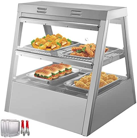 VEVOR 110V 27 Inch Commercial Food Warmer Display 2 Tier 800W Electric Countertop Food Warmer product image