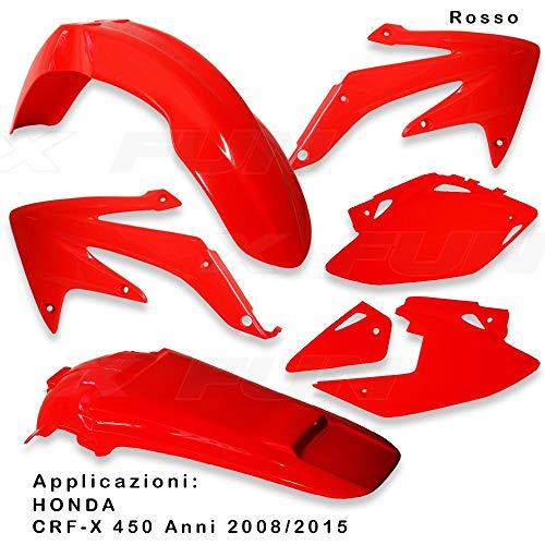 x-fun kit Plásticos HON crf 450X (2008) Rojo