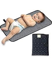 Przenośna podkładka do przewijania na pieluchy - wodoodporna składana mata do przewijania dziecka - podróżna mata na pieluchy - lekkie podkładki do przewijania dla dziecka - zmieniacz dziecka - można prać w pralce - mała podkładka do przewijania