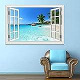 Tony plate Pegatinas de Pared 3D Playa de Palma de Coco Paisaje Moderno Pegatinas de PVC Pegatina hogar Sala de Estar Dormitorio Cocina decoración