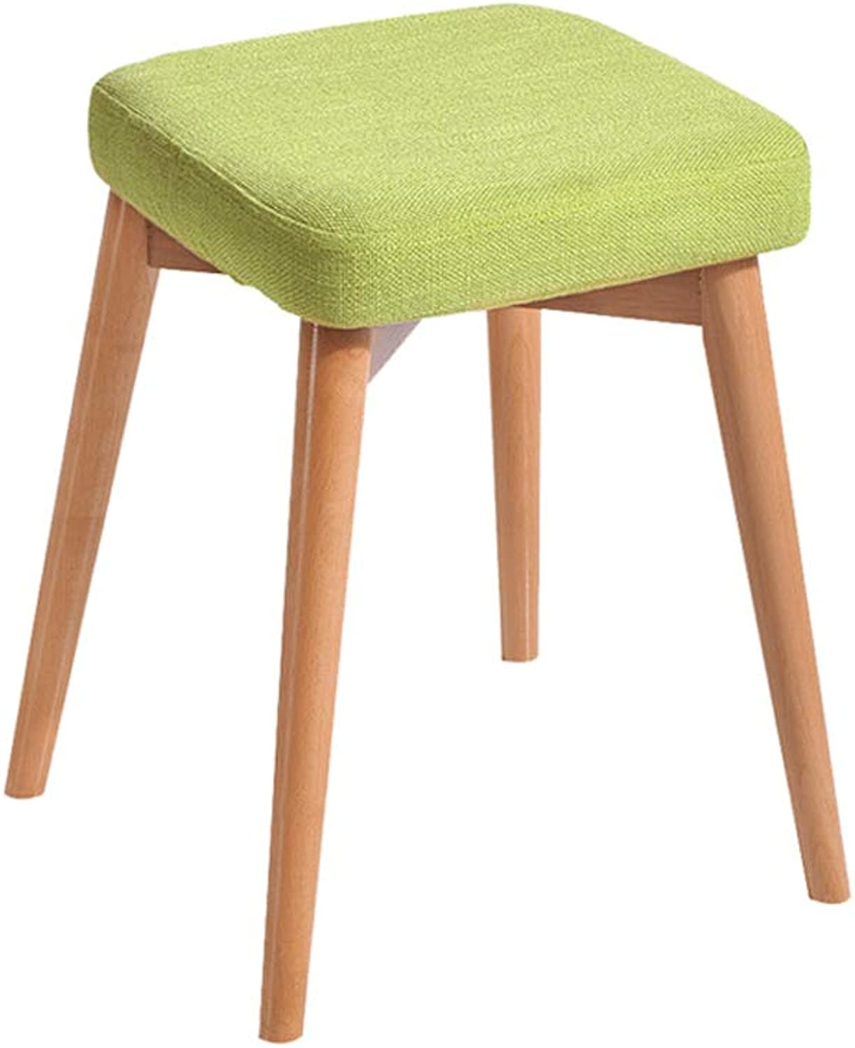 Dining Stool Change shoes Bench Square Stool Solid Wood Removable and Washable Creative Multi-Function Storage Household Table Change shoes (color   A)