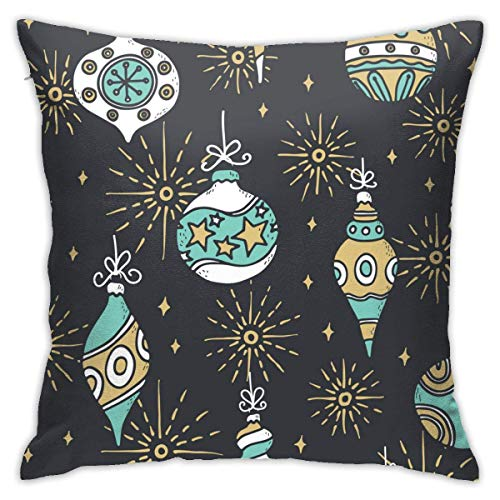 XCNGG Funda de almohadaGarden Art Deco Pillow Case Christmas Seamless Pattern Background Sofa Floor Cushion Cover 18x18 Inches