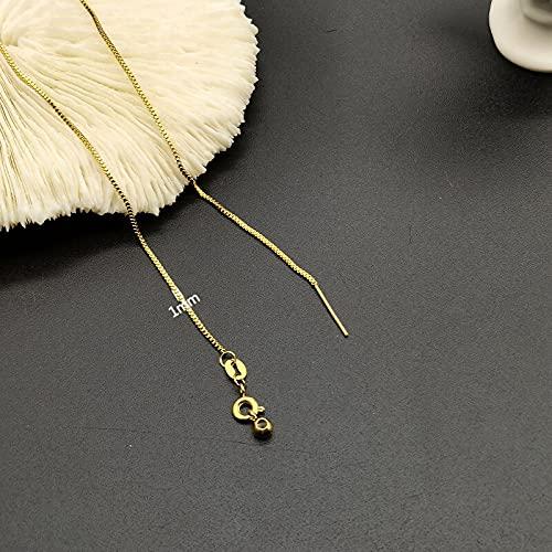 kangzhiyuan Cadena para la nariz, 2 piezas de acero inoxidable para mujer, cadena de caja de cadena de cadena para mujer, exquisitos accesorios de joyería de moda (color: oro)