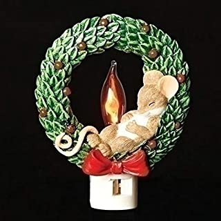 Charming Tails Mouse in Wreath Night Light