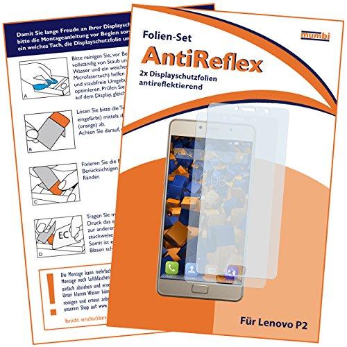 mumbi Schutzfolie kompatibel mit Lenovo P2 Folie matt, Bildschirmschutzfolie (2X)