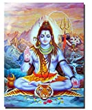 Shiva Lord Pinturas sobre lienzo en la pared Dioses hindúes Arte de la pared Lienzo Hinduismo Carteles e impresiones de pared Cuadros Imagen Decoración para el hogar 60x90 cm Sin marco