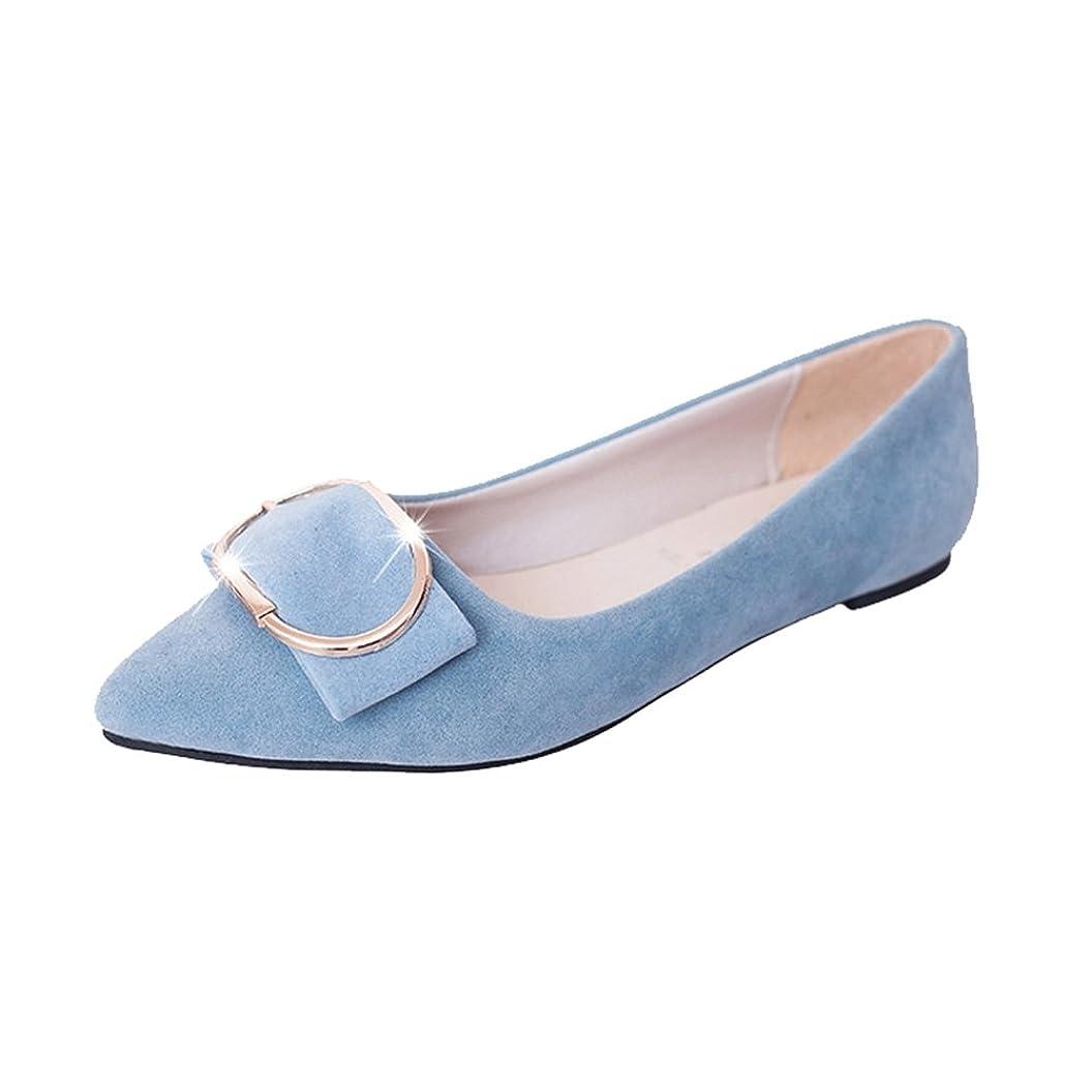 対応お風呂スキム[Btrada] レディースPointed Toe Ballet Slip Onスエードフラット快適ウォーキングシューズ