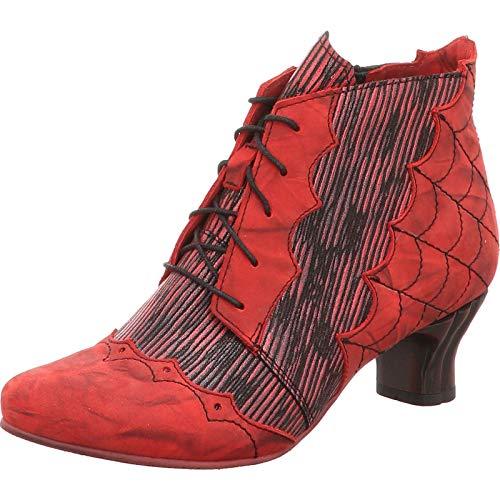 Simen Damen Stiefeletten Ausgefallene rote Stiefelette 0777A ROT rot 497281